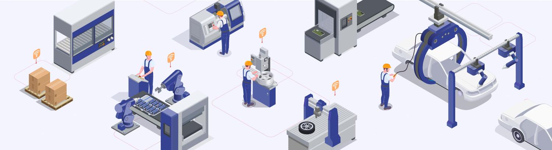 machine assemblage et automobile