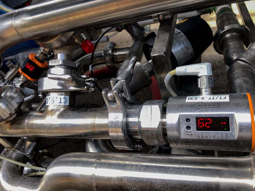 capteur de débit numérique skid filtration eau
