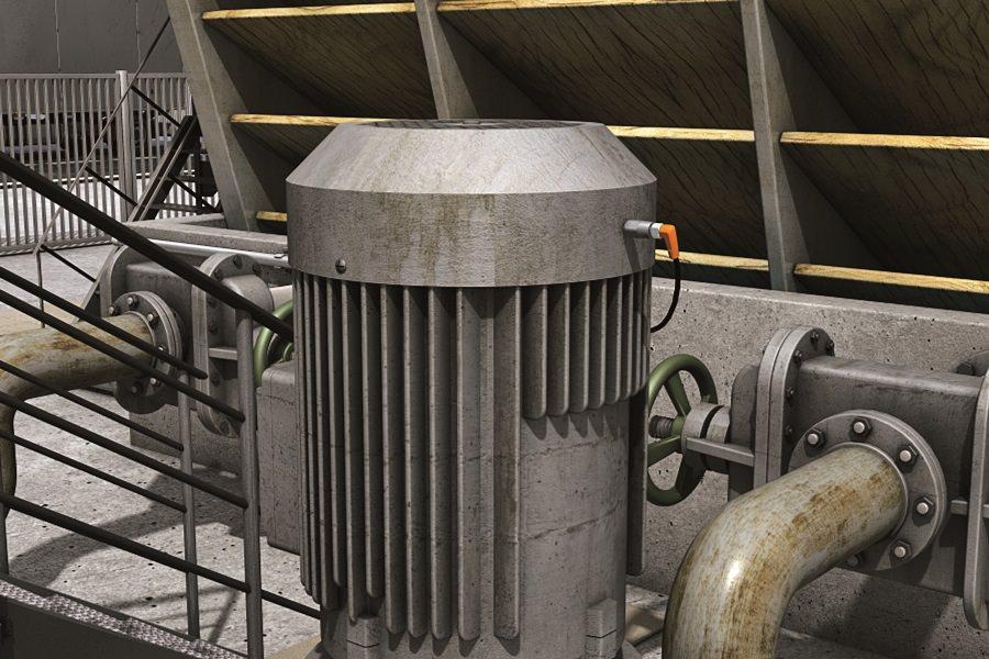 capteur de vibration ifm sur moteur de pompe